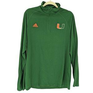 New Adidas Sample Miami Hurricanes Ultimate Tee L